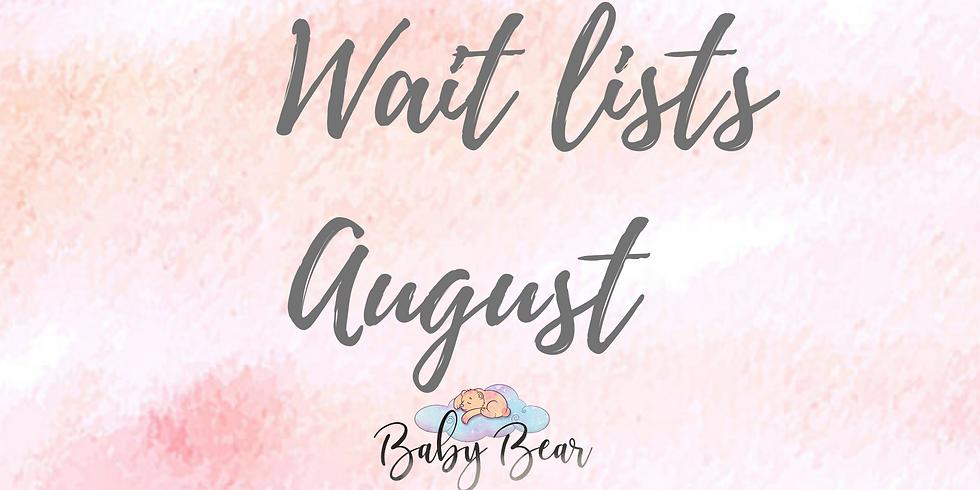 Wait list August classes