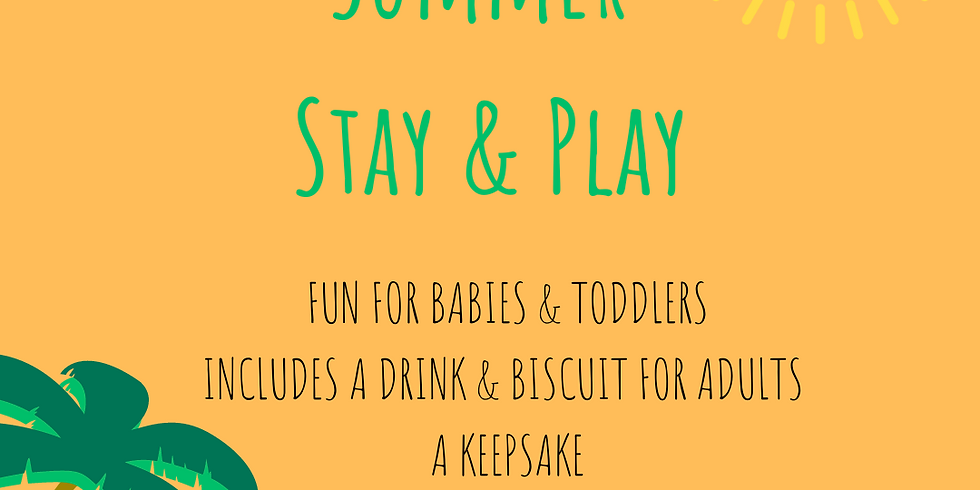 Summer stay and play toddlers