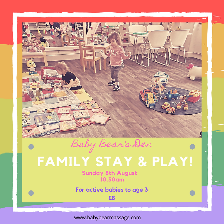 Family stay and play  Sunday 8th August