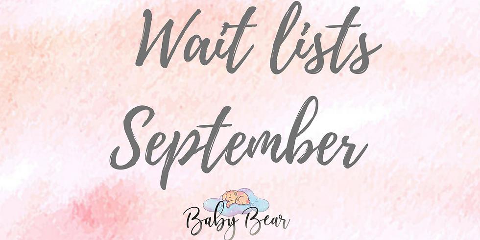 Wait list September classes