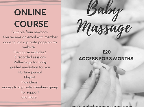 Baby massage online course