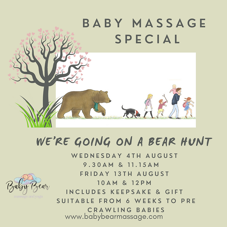 We're going on a bear hunt Baby massage special