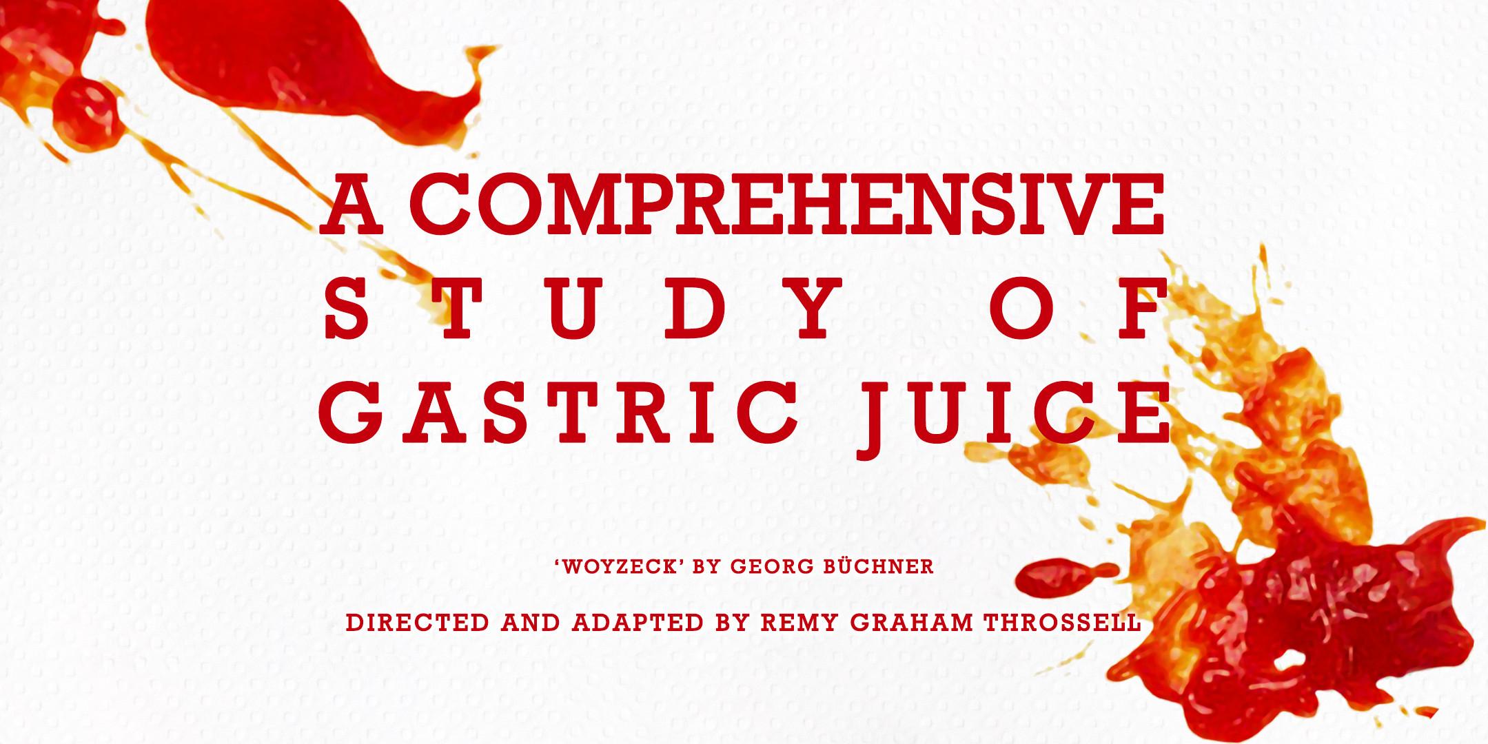 """A Comprehensive Study of Gastric Juice."" 2018. VCA Director's Season (web)"