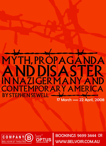 """Myth, Propaganda and Disaster"" 2007. HSC Poster design (Unused)"