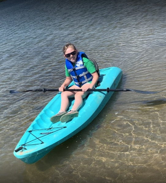 Kayak our crystal clear waters