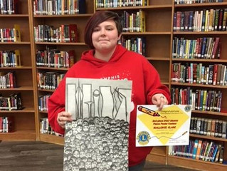 WESTSIDE MIDDLE SCHOOL STUDENT TAKES SECOND PLACE IN DISTRICT ART CONTEST