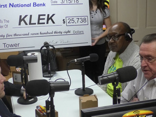 KLEK receives large donation from First National Bank