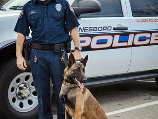 Vested Interest in K9s, Inc. awards grant to Jonesboro Police Department