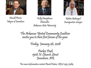 Immigration Forum to be Held Jan.26th