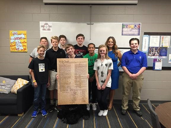 Corker's Office Honors Constitution Week at Jackson Christian School Students in 13 Tennessee School
