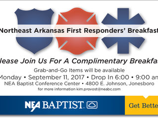 NEA Baptist Announces Event to Honor Local First Responders