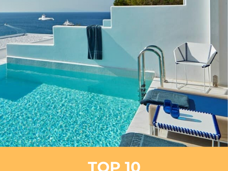 TOP 10 LUXURY PLACES TO STAY IN MYKONOS, GREECE 🇬🇷