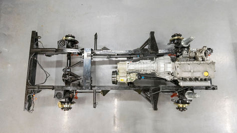 Land Rover Defender 90 Chassis Birds Eye View