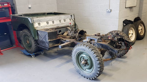 Land Rover Series 1 partially stripped