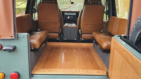 Land Rover Defender 110 Wood Floor