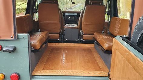 Land Rover Defender 110 Wood Floor