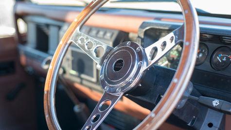 Land Rover Defender Wooden Steering Wheel