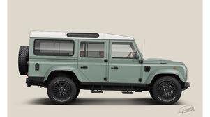 Land Rover 110 Station Wagon Illustration