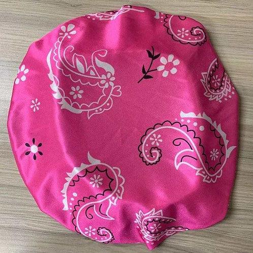 Pink Satin Bandana Bonnet