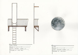 Fire Escape and Moon
