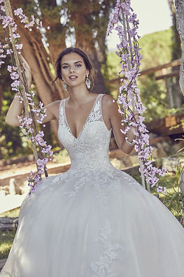 18320 Ronald Joyce tuille embroidered wedding dress