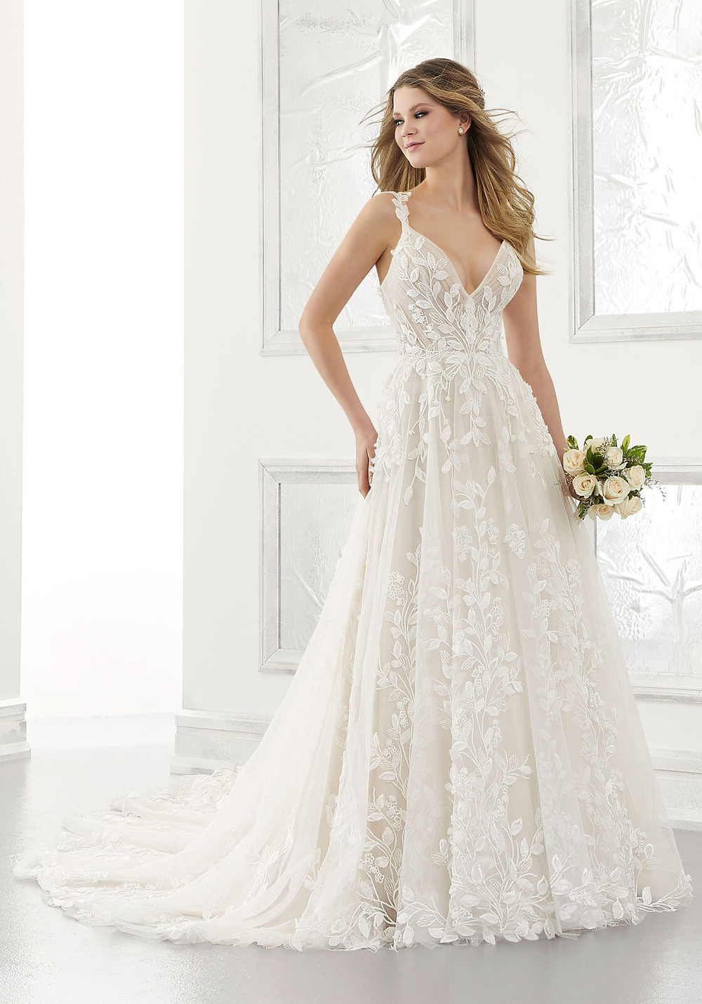 Adelaide 2171 by Morilee Bridal, wedding dresses available at our boutique near Lincoln