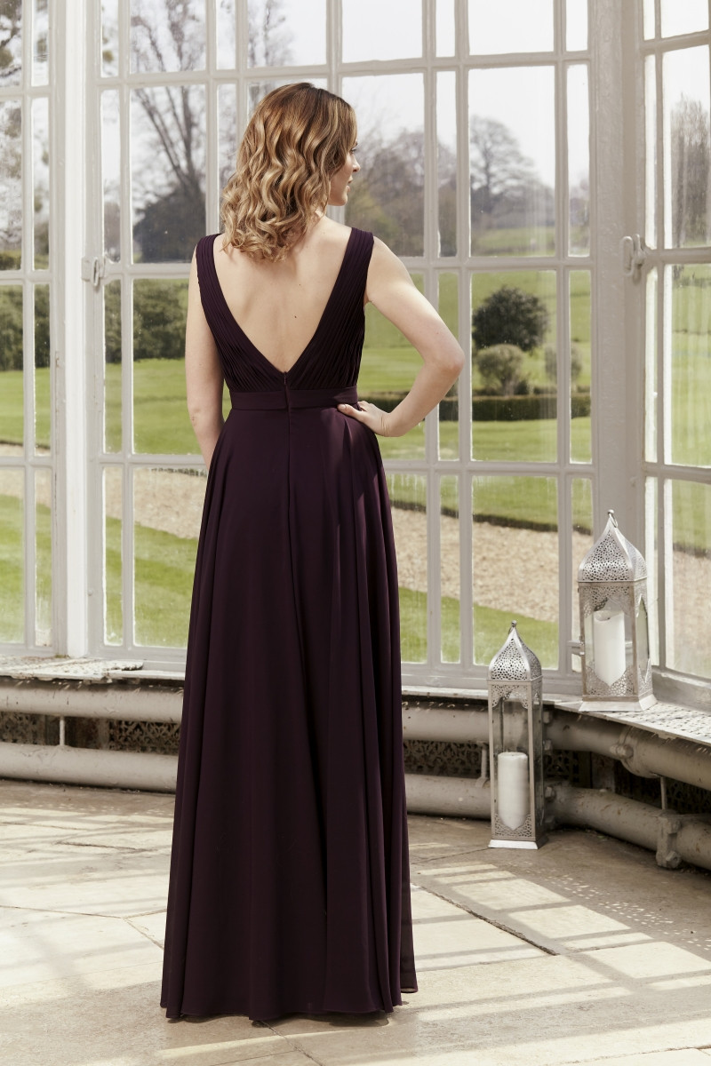 Cindy by Tiffany's Bridesmaid has a beautiful V shaped back and comes in over 50 colours! We're proud to stock TIffany's Bridesmaid dress in our Lincolnshire boutique!