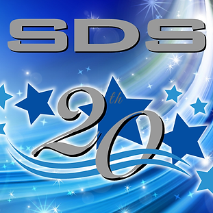 SDS 20 year celebration graphic