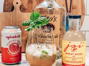 Lemon Basil Vodka Spritzer
