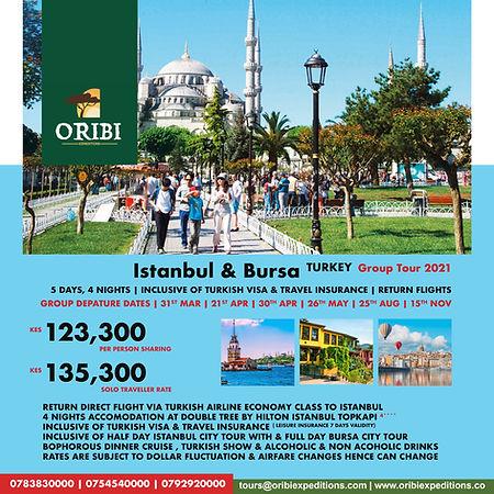 Istanbul & Bursa Turkey , 2021 Group Tou