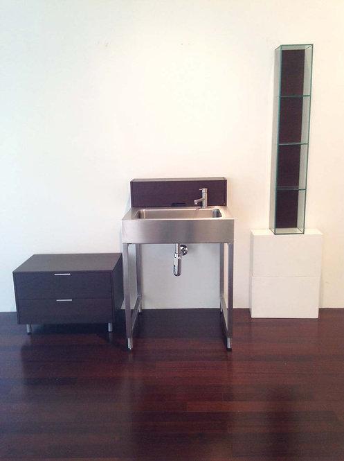 Stainless Steel Pedestal Sink Set