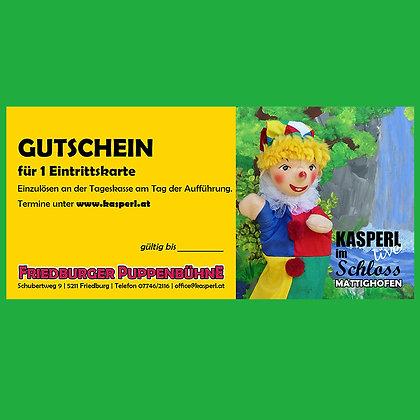 Kasperl Gutschein Schloss Mattighofen