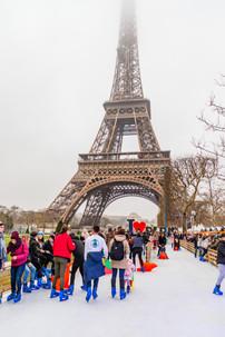 Village de Noël de la tour Eiffel.