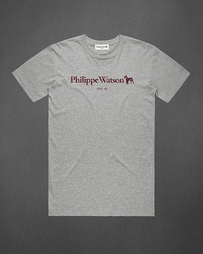 T-Shirt gris chiné signature