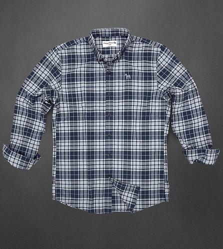 Chemise carreaux marine/gris