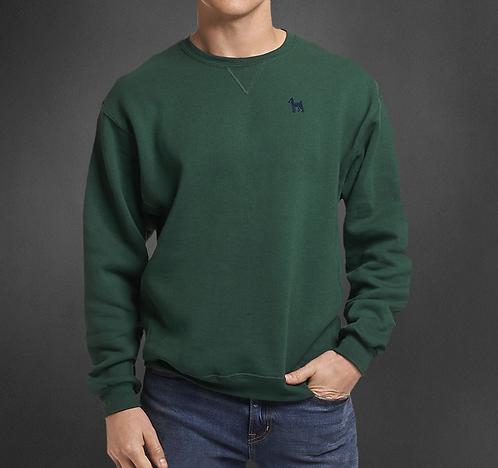 Sweatshirt col rond vert