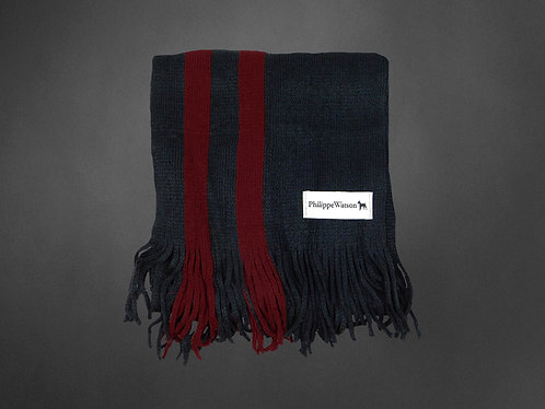 red / charcoal Scarf