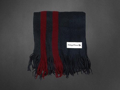 Écharpe rouge/charcoal