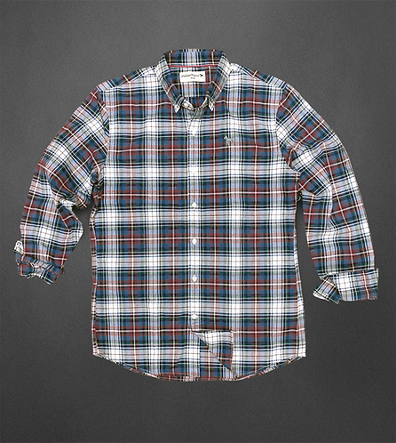 Blue/Red Oxford Plaid Shirt