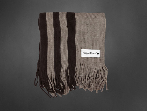 Écharpe taupe/brun