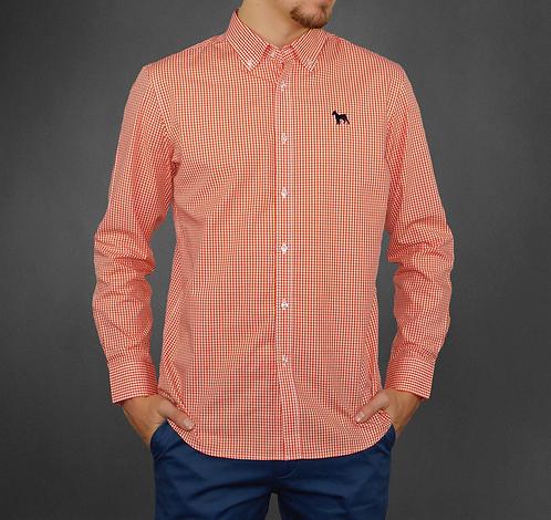 Chemise mini carreaux orange