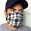 Thumbnail: Blue and cream plaid mask
