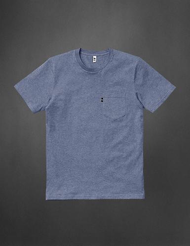 T-Shirt blue chiné avec poche