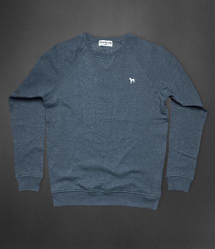 Sweatshirt bleu chiné