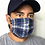Thumbnail: Blue plaid mask