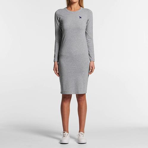 Gray mid-length dress