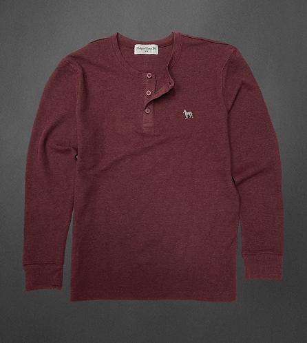 Berry henley sweater