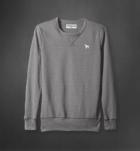 Gray Crew Neck Sweater