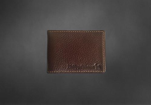 Portefeuille cuir brun