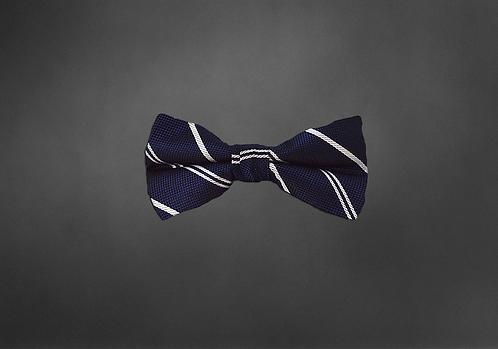Navy Striped Bowtie